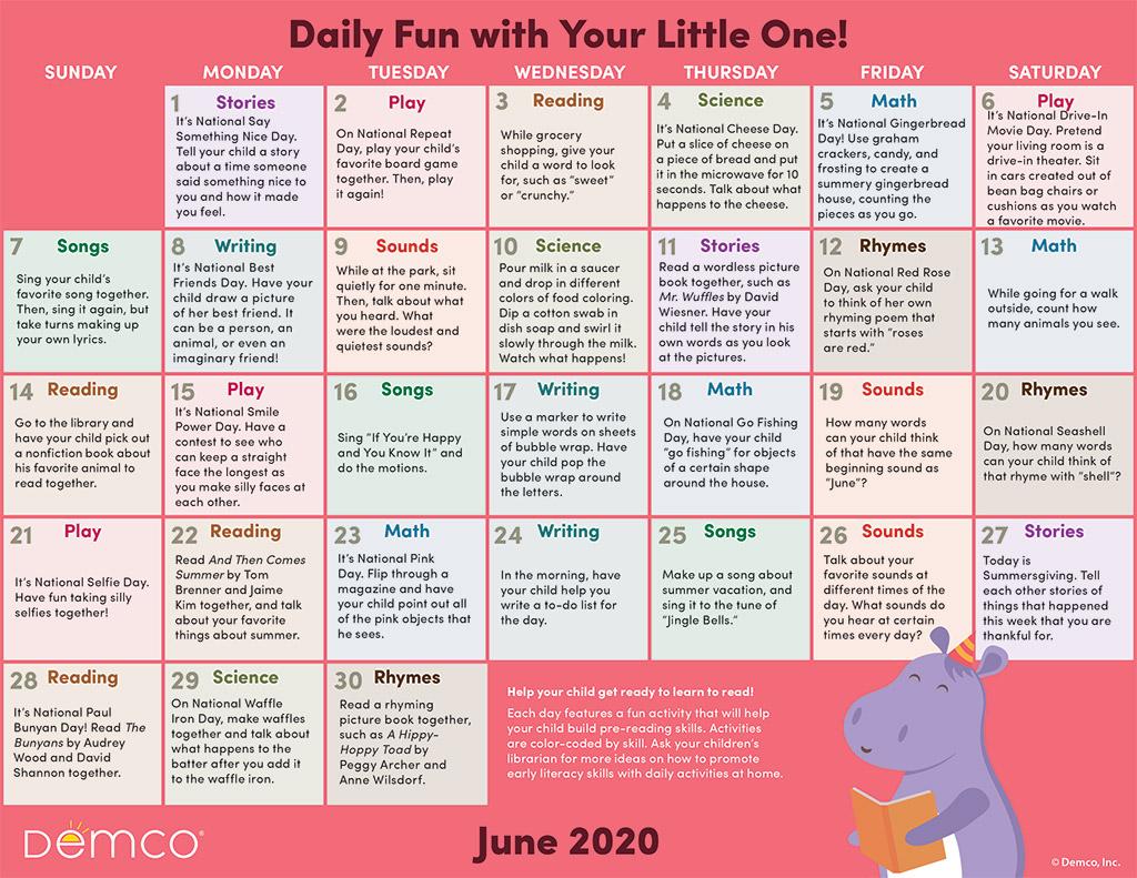 Jun activity calendar image