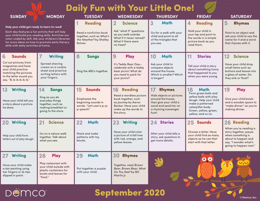 sept activity calendar image